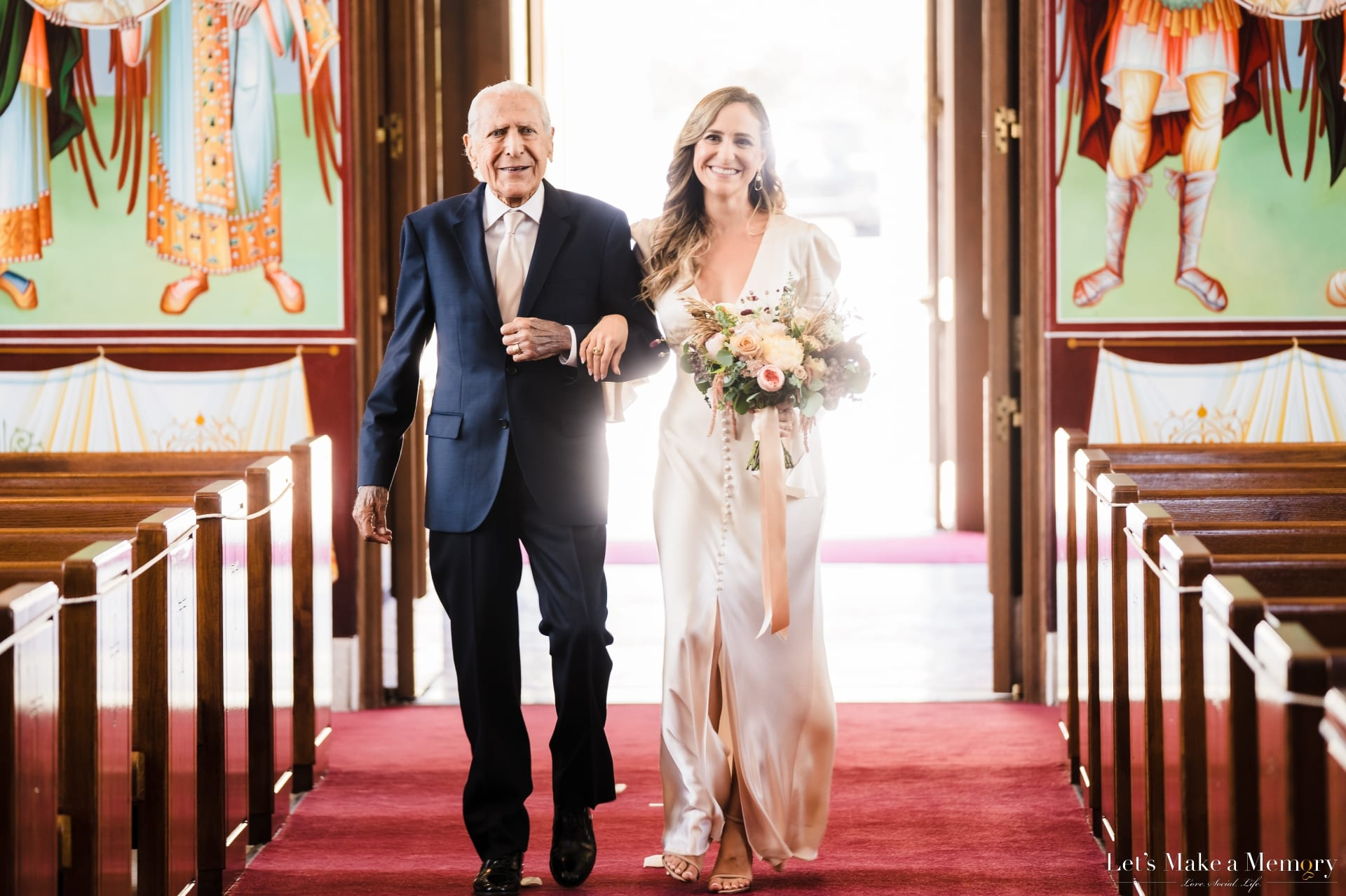 Father Walking Down The Aisle With Daughter