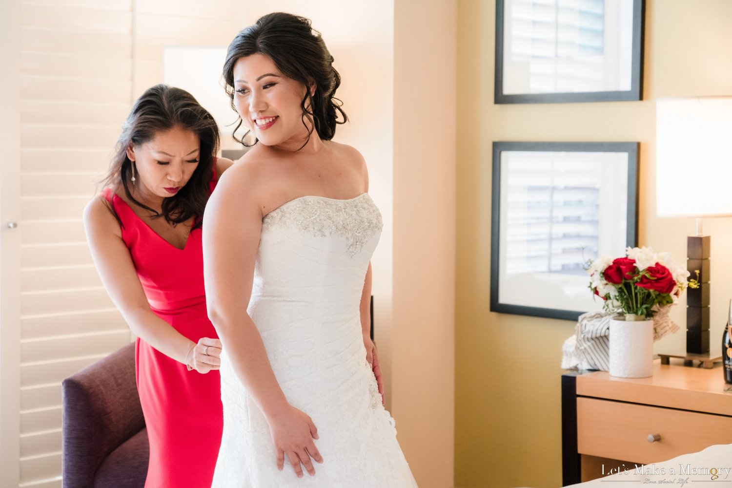 Bride Getting Ready at Pacific Palms