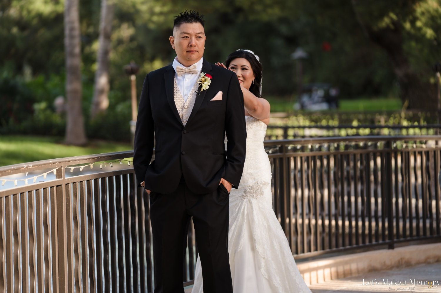 Pacific Palms First Look Wedding