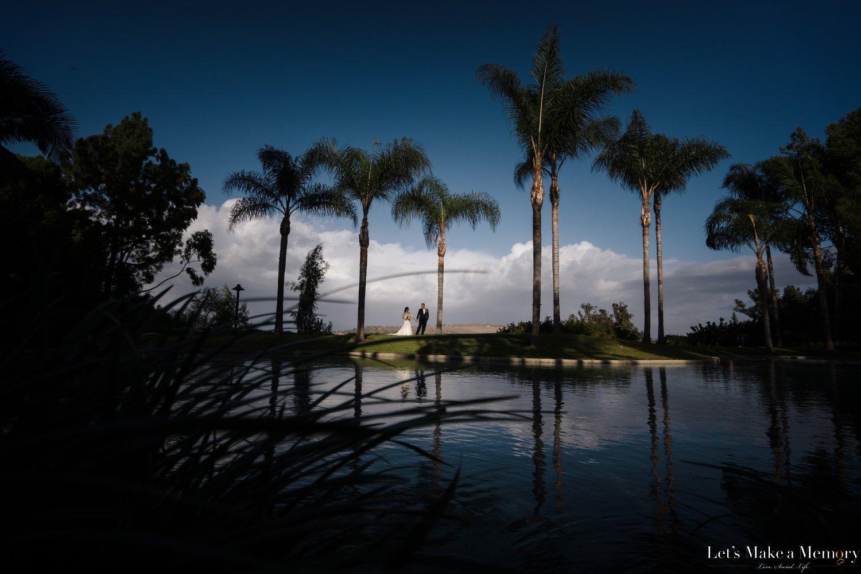 Pacific Palms Wedding Portrait